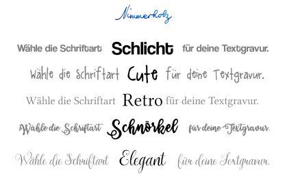 Holzordner mit individueller Gravur Schriftarten personalisieren